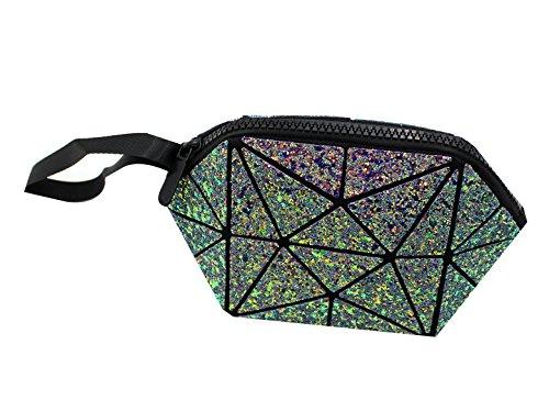 Geometric Party Purse Evening Wristlet Clutch Luminous Tote Diamond Shiny Bag Wallet Lattice Handbag