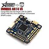 Airbot Omnibus AIO F4 V6 Flight Control - 5xUARTs Using F4 MCU Controls OSD Over SPI Bus for Quadcopter Drone LEACO