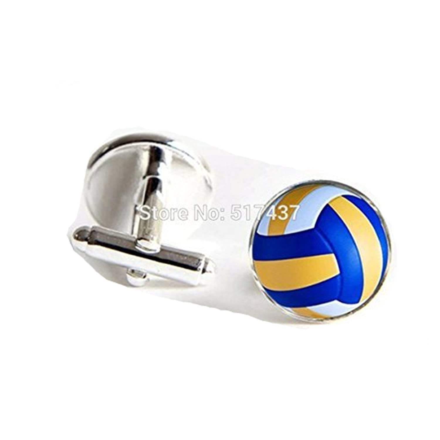 Beach Volleyball Cufflinks Beach Volleyball Cuff Links Jewelry Shirt Cufflink