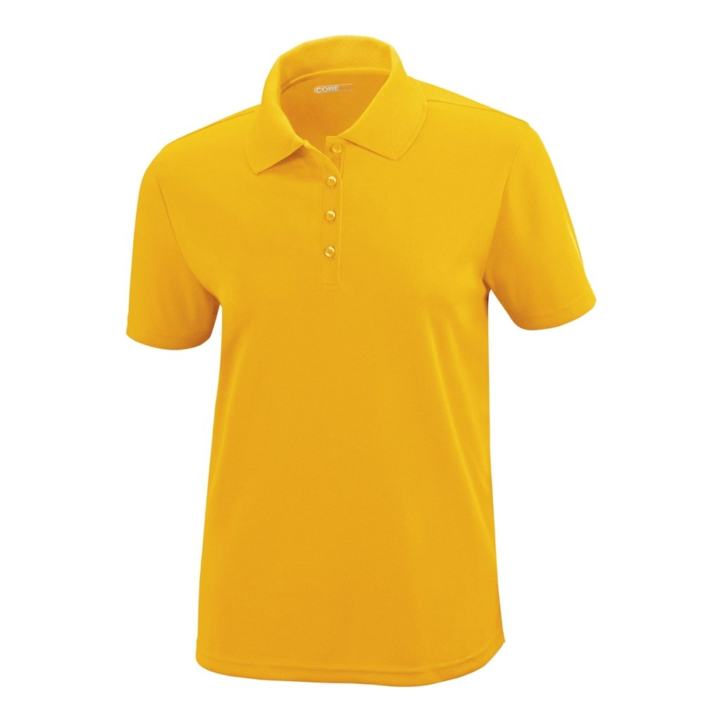 Ash City Ladies Origin Core 365 Performance Polo (XXX-Large, Campus Gold) by Ash City Apparel