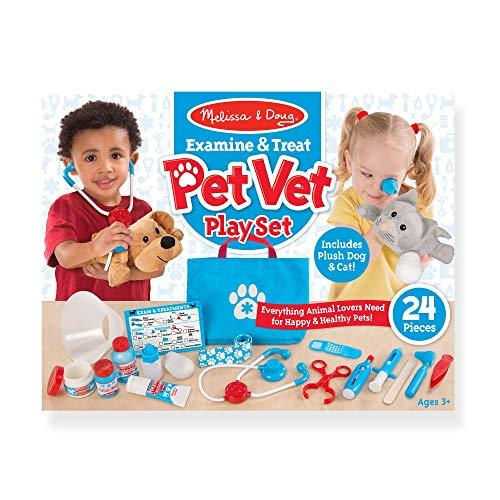 "51RNgh%2BISdL - Melissa & Doug Examine & Treat Pet Vet Play Set (Animal & People Play Sets, Helps Children Develop Empathy, 24 Pieces, 10.5"" H x 13.5"" W x 3.5"" L)"