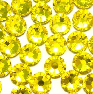 NEW ThreadNanny CZECH Quality 10gross (1440pcs) HotFix Rhinestones Crystals - 5mm/20ss, CITRINE Yellow Color ()