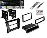 Pioneer DEH-X6900BT Vehicle CD Digital Music Player Receivers, Black w/ Car Radio Black Dash Kit Harness for 2007-2013 Toyota Tundra Sequoia Wiring Harness