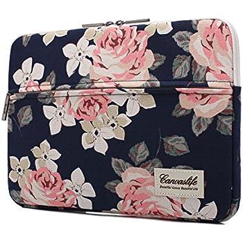 Amazon Com Canvaslife White Rose Patten Laptop Sleeve 14