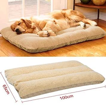 Colchón para cama de perro grande para cachorros mascotas gato cojín de invierno cálido suave forro polar: Amazon.es: Productos para mascotas