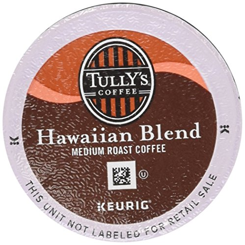 Keurig, Tully's Hawaiian Blend, Medium Roast Coffee Extra Bold 24 K-Cup Single Serve Packs
