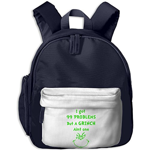 Mieba Grinch Problems Canvas School Backpack New Visor Backpack For (Life Size Grinch)