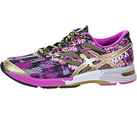 ASICS Women's Gel-Noosa TRI 10 Gr Running Shoe, Black/Gold/Gold Ribbon, 6.5 M US