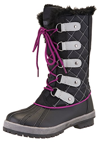 Khombu Women's Jenny Waterproof Winter Snow Boot (10 M US, Black)