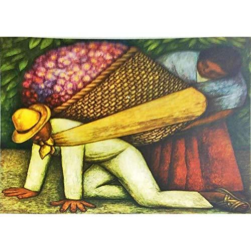 Diego Rivera The Flower Vendor 1935 Original Lithograph Small