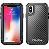 iPhone X Case | Pelican Shield Case for iPhone X - Ultra slim design constructed of Kevlar brand fibers for up to 24 feet drop protection