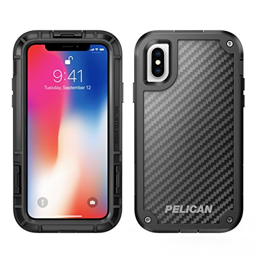 iPhone X Case   Pelican Shield Case for iPhone X - Ultra slim design constructed of Kevlar brand fibers for up to 24 feet drop protection