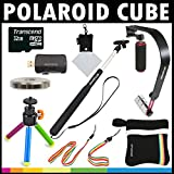 Polaroid Deluxe ACTION KIT For The Polaroid Cube - Cube+ Video Action Camera - Great Add On Package