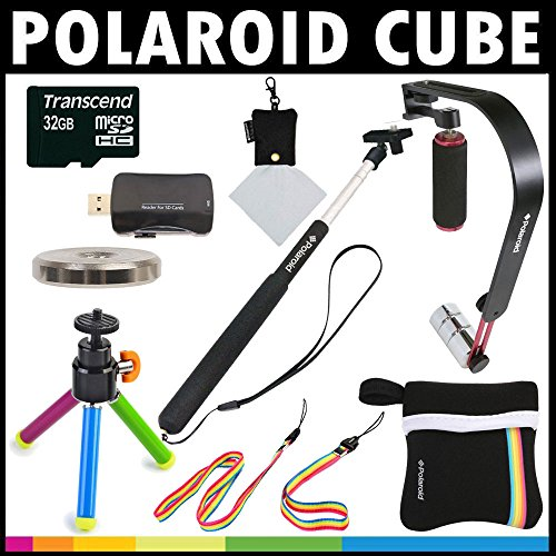 Polaroid Deluxe ACTION KIT For The Polaroid Cube, Cube+ Video Action Camera - Great Add On Package