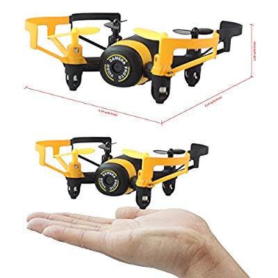 Fistone RC Drone Quadcopter Remote Control Aircraft 2.4G Built-in 6-Axis Gyro Wifi Camera for Iphone Android Mini RC Helicopter Real-Time Video HD Camera with Headless Mode Yellow by Fistone