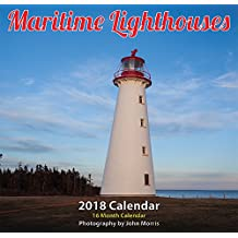 "Maritime Lighthouse 2018 12x11.5"" Monthly Wall Calendar"