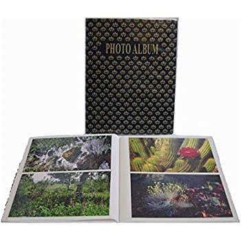 "Pioneer Flexible Cover Series Bound Photo Album, Random Designer Color Covers, Holds 64 4x6"" Photos, 1 Per Page."