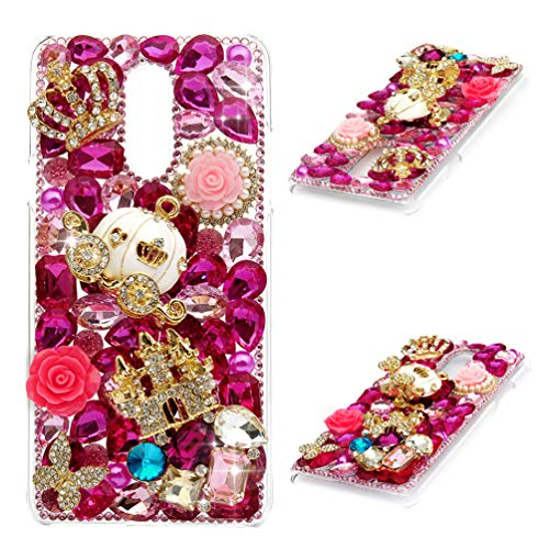 - LG Stylo 4 Case, Crystal Clear PC Shell Luxury 3D Handmade Bling Shiny Glitter Sparkle Diamonds Rhinestones Gems Ultral Slim Fit Bumper Colorful Jewelry Protective Cover for LG Q Stylus - Pumpkin Car