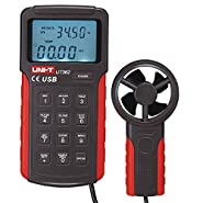 UNI-T UT362 Anemoscope Anemometer Wind Speed 2m/s~30m/s , Count 0.001?9999 X 100, Temperature 0°C?40°C Measurement MAX/MIN Display Data Logging USB PC Software