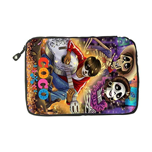 Coco Guitar Pattern Halloween Costumes Fashion 3D Printing Electronics Accessories Organizer Bag,Portable Tech Gear Phone Accessories Storage Carrying Travel Case Bag, Earphone Cable Organizer Bag ()