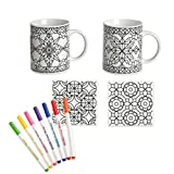 Color Pops Color Your Own Mugs and Coasters Set