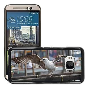 Etui Housse Coque de Protection Cover Rigide pour // M00134951 Gaviota Pájaro Animal Pico Venecia // HTC ONE M9