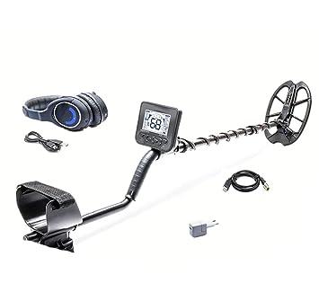 Detector de metales profesional, buscador de metales de alta sensibilidad con pantalla LCD, modo de discriminación, con función de auriculares P/P: ...