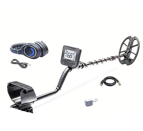 Cazador de tesoros Detector de metales profesional, buscador de metales de alta sensibilidad con pantalla