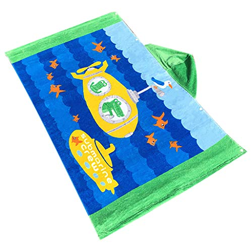 Euone Clearance Sales,Toddler Hooded Beach Bath Towel Shark Soft Swim Pool Coverup Poncho Cape For Boys Kids Children 1-12 Years Old Bath ()
