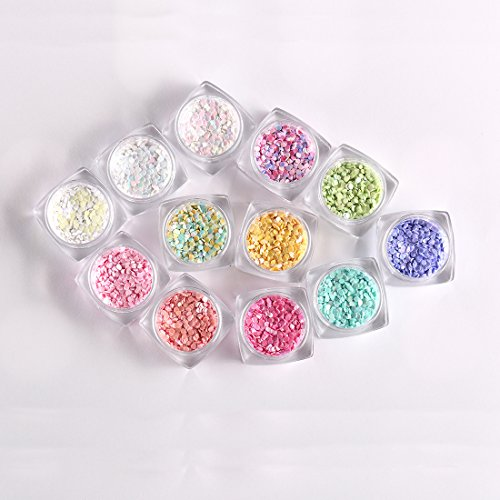 12 Boxes Muti-Colors 3D Symphony Round Dots Glitter Sequins Slice 2mm Diameter Nail Art Decoration Decal