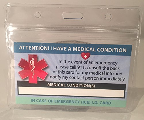 Medical Condition ICE Alert In Case of Emergency I.D. Ide...