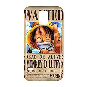 One Piece Luffy Wanted Poster Snap on Plastic Case Cover Compatible with Samsung Galaxy S5 GS5