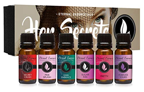 Secret Pink Splash - Her Secrets - Gift Set of 6 Premium Fragrance Oils - Pretty, Dark Embrace, Forever Yours, Secret Crush, Pink Splash, Sugar Kiss - Eternal Essence Oils