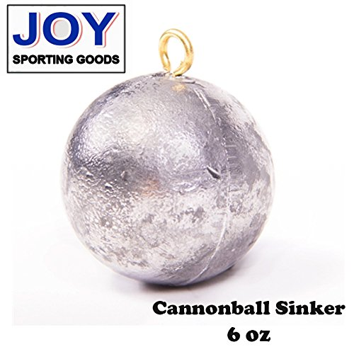 Cannonball 6 oz (2 pcs) Fishing Sinker, Lead, Weight