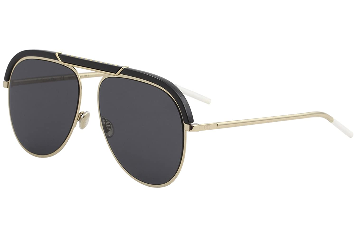 474b9c307744f Amazon.com  Christian Dior DIORDESERTIC 02M2 2K Black Gold Aviator  Sunglasses for  Clothing