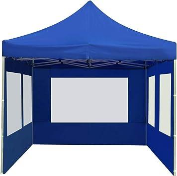 vidaXL Carpa Plegable Profesional con Paredes Aluminio Cenador Pagoda Pérgola Fiestas Celebraciones Estructuras Recintos Parasoles 6x3 m Azul: Amazon.es: Hogar