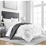 sleep restoration goose down alternative comforter reversible all season hotel quality luxury comforter kingcal king greywhite