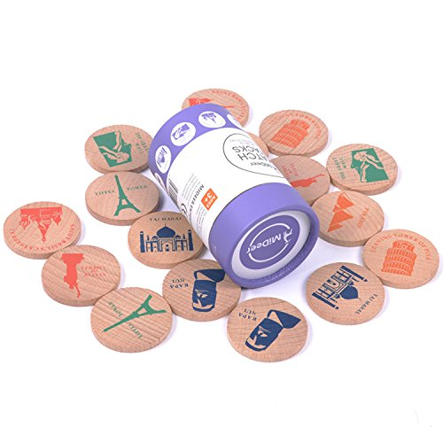 USATDD Wooden Memory Matching Game Match Stacks Educational Toy Early Development Learning Puzzle ()