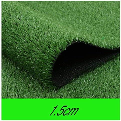 YNFNGXU 人工芝、草の高さ15mm屋内および屋外の日焼け止め断熱偽の芝生の装飾屋根の風景 (Size : 2x12m)