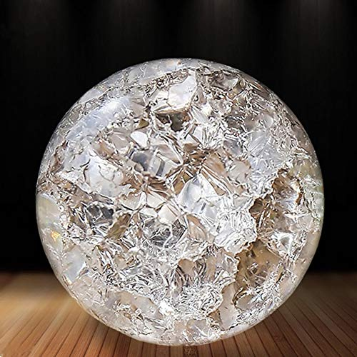 ZAMTAC Crystal Ice Crack Ball Home Decorative Glass Marbles Water Fountain Humidifie Ball Feng Shui Fountains Magic Sphere Balls - (Color, Size: 5 cm) ()