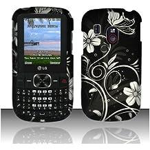 Black White Flower Hard Cover Case for LG 500G
