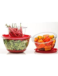 CheckOut Sagler Set of 3 Mixing Bowls with lids opportunity