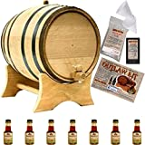 Outlaw Kit From American Oak Barrel - Make Your Own Highland Malt Scotch Whisky (Natural Oak With Black Hoops, 5 Liter)