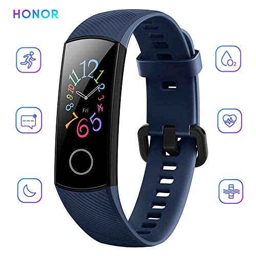 Honor Band 5 Smart Bracelet Watch, AMOLED Touch Display, Waterproof Fitness Tracker, Heart Rate Tracking