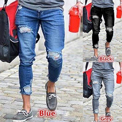 Slim Giovane 3 Pantaloni Jeans Ufig Skinny Holes Destroyed Fit Chern Strech Streetwear Fashion Uomo Denim wwpq6FzP