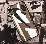 iPhone 3D AJ1 Travis Scott Cactus Jack Shoe Case Official Print Textured Shock Absorbing Protective Sneaker Fashion Case (iPhone X/XS)