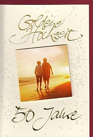 Glückwunschkarte Goldene Hochzeit Goldhochzeit Romantisch