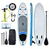ANCHEER Inflatable Stand Up Paddle Board 10', Non-Slip Deck(6 Inches Thick), iSUP Boards