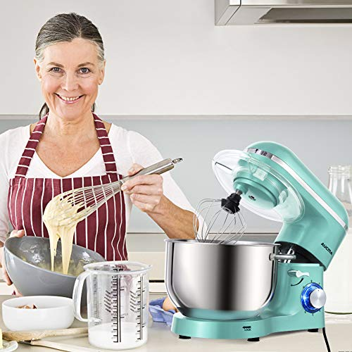 Aucma Stand Mixer,6.5-QT 660W 6-Speed Tilt-Head Food Mixer, Kitchen Electric Mixer with Dough Hook, Wire Whip & Beater (6.5QT, Blue) by AUCMA (Image #6)