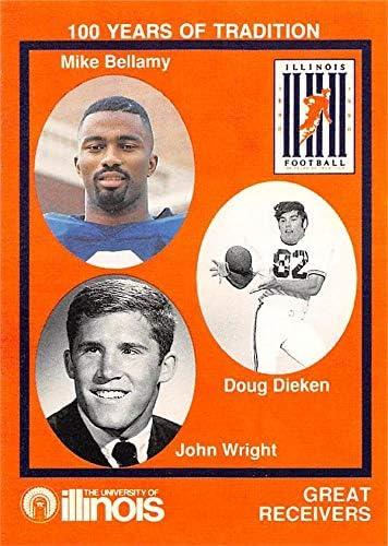 John Wright Doug Dieken Mike Bellamy Football Football Card Illinois Fighting Illini 1990 State Farm Collegiate 38 At Amazon S Sports Collectibles Store